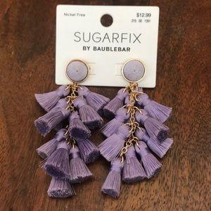 Sugarfix BaubleBar Multi-Tassel Drop Earrings NWT
